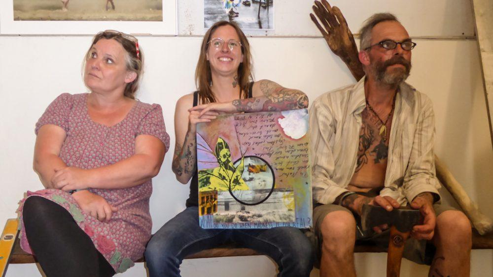 Die drei Künstler.