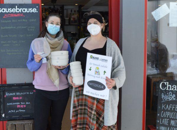 Das kleine Restaurant Kaffeeküche bietet Essen zum mitnehmen ohne Müll an
